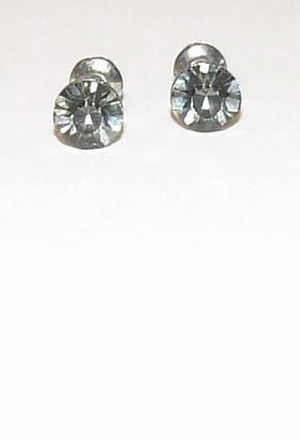 Oorknopjes grijs 44449 | Oorknopjes met grijze strass