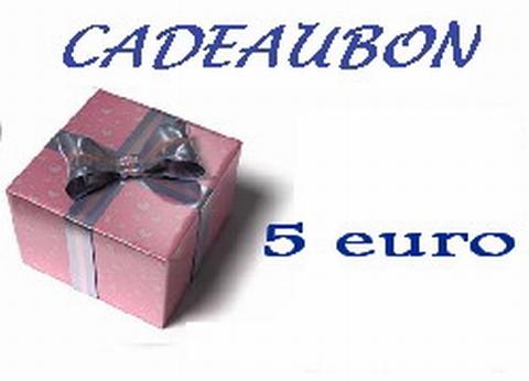Cadeubon ter waarde van 5 euro