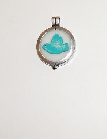 Munt voor munthouder met vredesduif turquoise