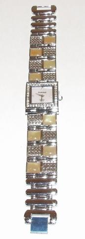 Horloge met gele steentjes en heldere strass