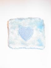 Pluche portemonnee lichtblauw