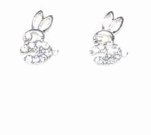 Oorbellen konijntjes met strass-steentjes