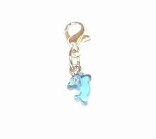 Flying charm kunststof dolfijn blauw