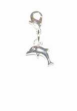 Flying charm kunststof dolfij