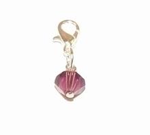 Flying charm glaskraal paars