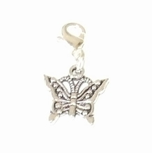 Flying charm metalen vlinder
