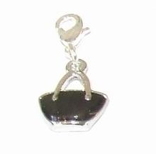 Flying charm metalen tas zwart