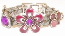 Armband bloem 1927 | Armband met bloem fuchsia/paars