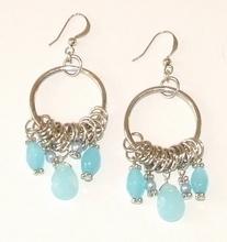 Oorbellen turquoise 90330   Trendy oorbellen turquoise