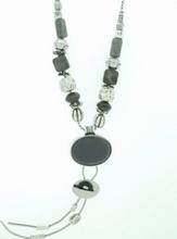 Ketting grijs 99125 | Trendy grijze ketting natuursteen