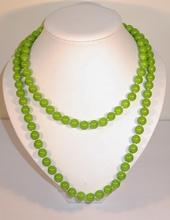 Super lange kralen-ketting groen