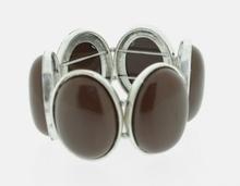 Armband bruin 33335 | Armband met bruine natuurstenen