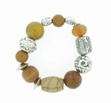 Armband bruin 51512 | Speelse bruine armband