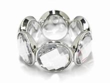 Armband strass 7951 | Armband met strass stenen helder