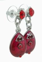 Oorbellen rood Otazu 00330 | Rode Otazu look oorbellen