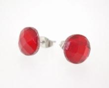 Oorknopjes rood 4682 | Oorknopjes met rode strass
