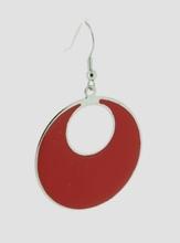 Oorbellen rood 4684 | Trendy rode  oorbellen
