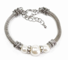 Armband Pandora 99117 | Pandora stijl armband parels/strass