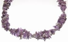 Ketting paars 404042 | Ketting met paarse natuursteentjes