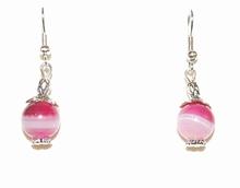 Oorbellen roze Agaat 78663 | Oorbellen edelsteen roze