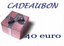 Cadeubon ter waarde van 40 euro