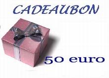 Cadeubon ter waarde van 50 euro
