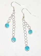 Oorbellen turquoise 88195 | Lange oorbellen turquoise