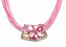 Ketting amulet 95133 | Ketting amulet roze