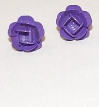 Oorknopjes roos paars 771 | Paarse roos oorbellen