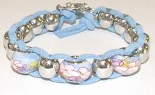 Trendy armband met Pandora stijl glaskralen
