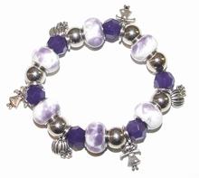 Armband met Pandora stijl kralen en bedeltjes
