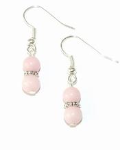 Oorbellen roze 48 | Oorbellen roze halfedelstenen