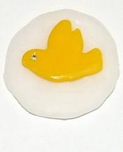 Munt voor munthouder met vredesduif geel