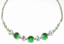 Ketting groen 552 | Prachtige opvallende groene ketting