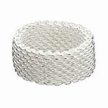 Zilveren Mesh ring