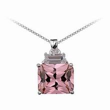 Zilveren ketting met Pink Diva hangertje